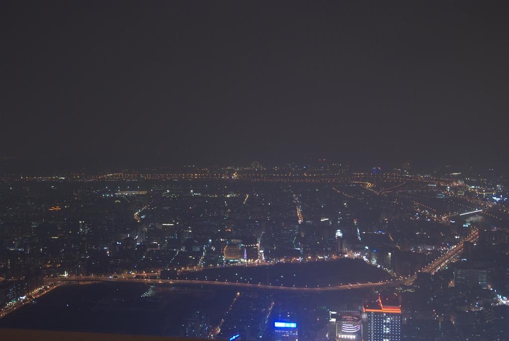 Het uitzicht vanaf Taipei 101