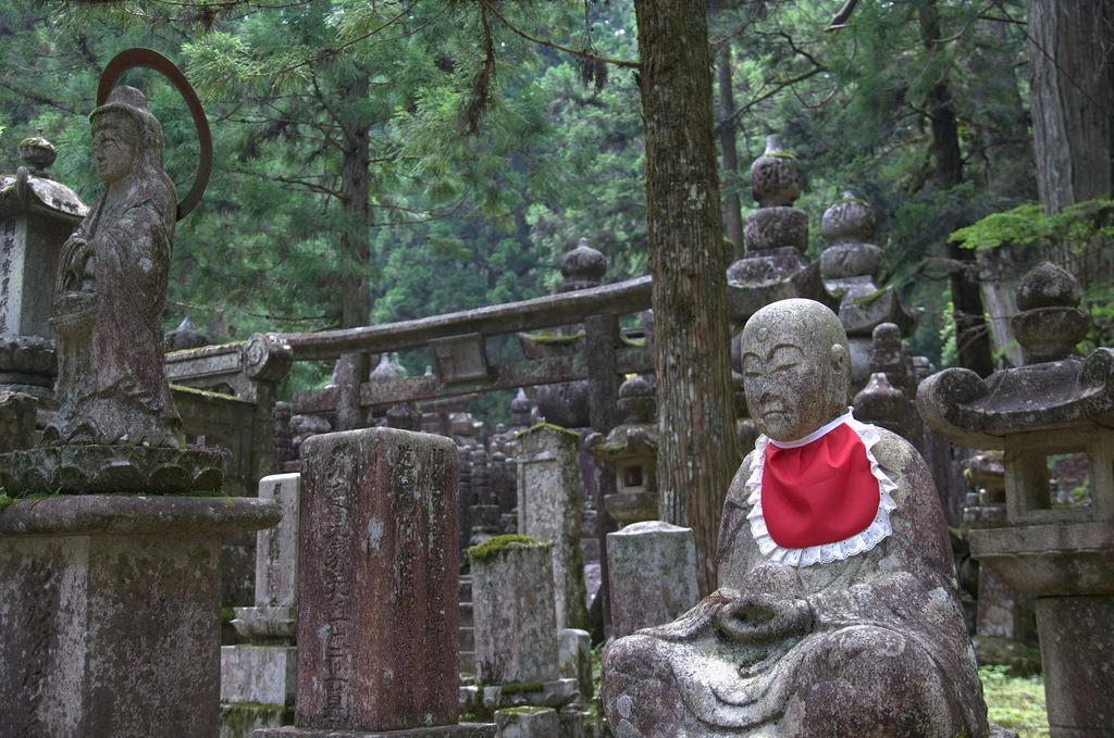 Jizo in red, Oku-no-in Koya-San