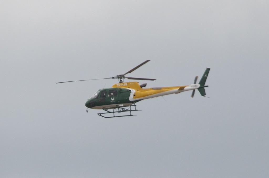 Chopper looking for poachers