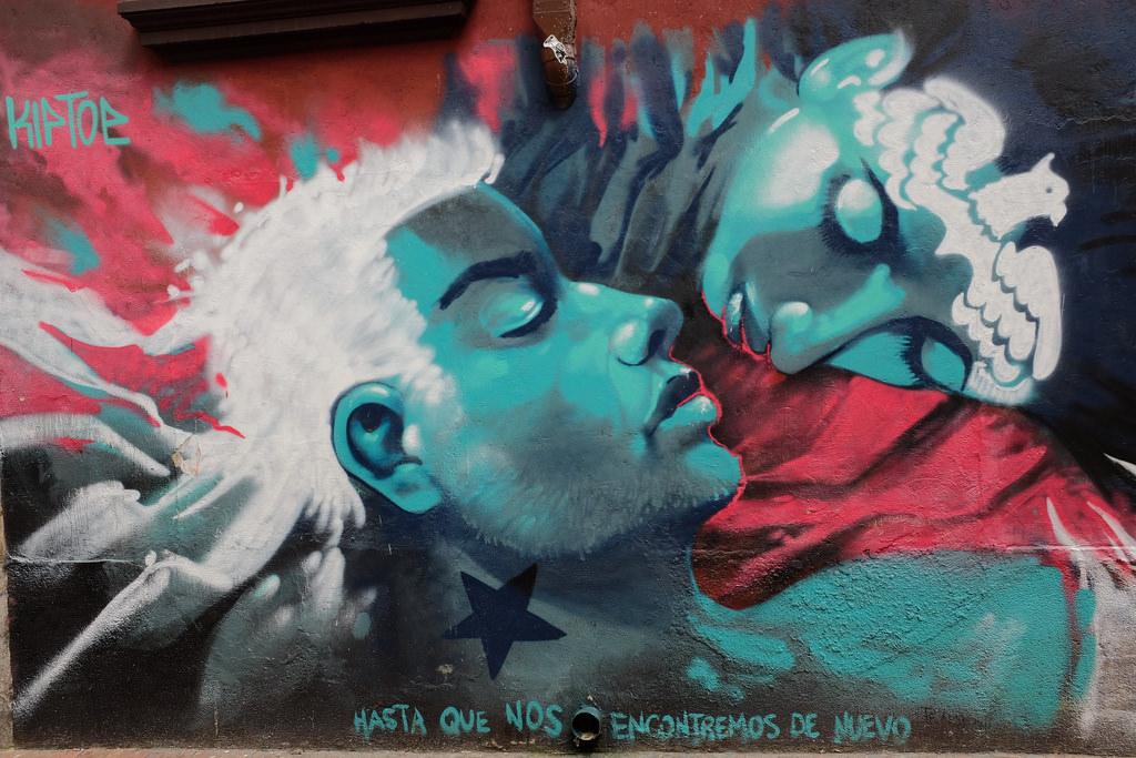 Bogota graffiti tour - Twee geliefden
