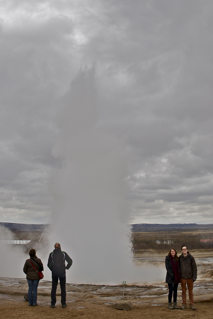 Great Geysir with Margot