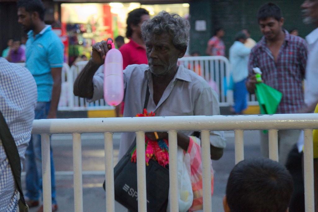Man selling balloons