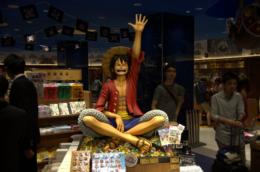 One Piece store in Tokyo Tower