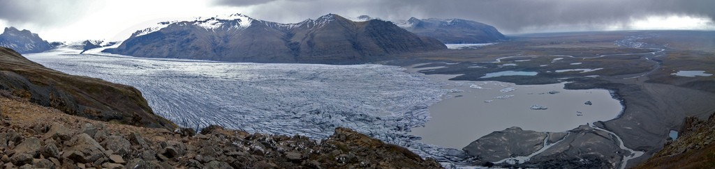 Panorama of the Vatnajökull glacier
