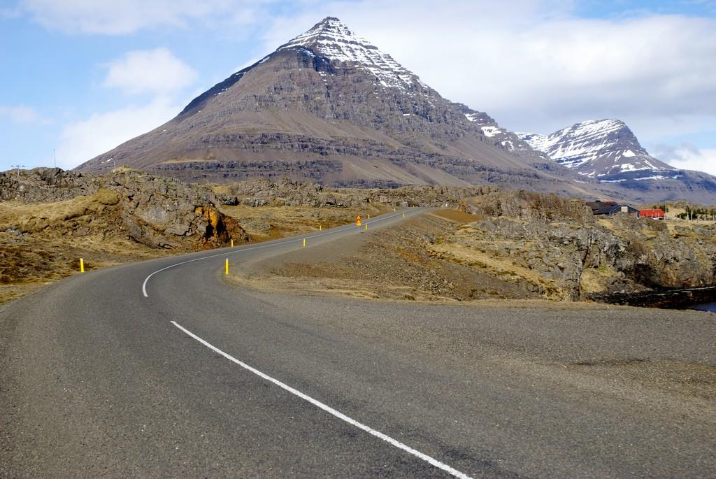 Piramid shaped mountain Búlandstindur