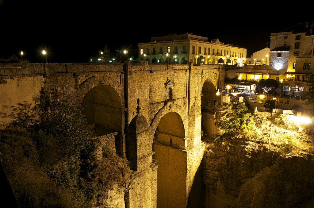 Ronda bridge by night