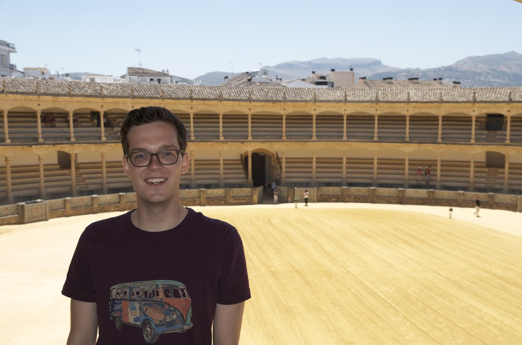 Vincent in the Plaza de Toros de Ronda