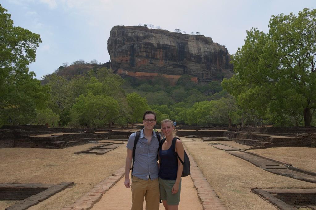 Voor Sigiriya rock