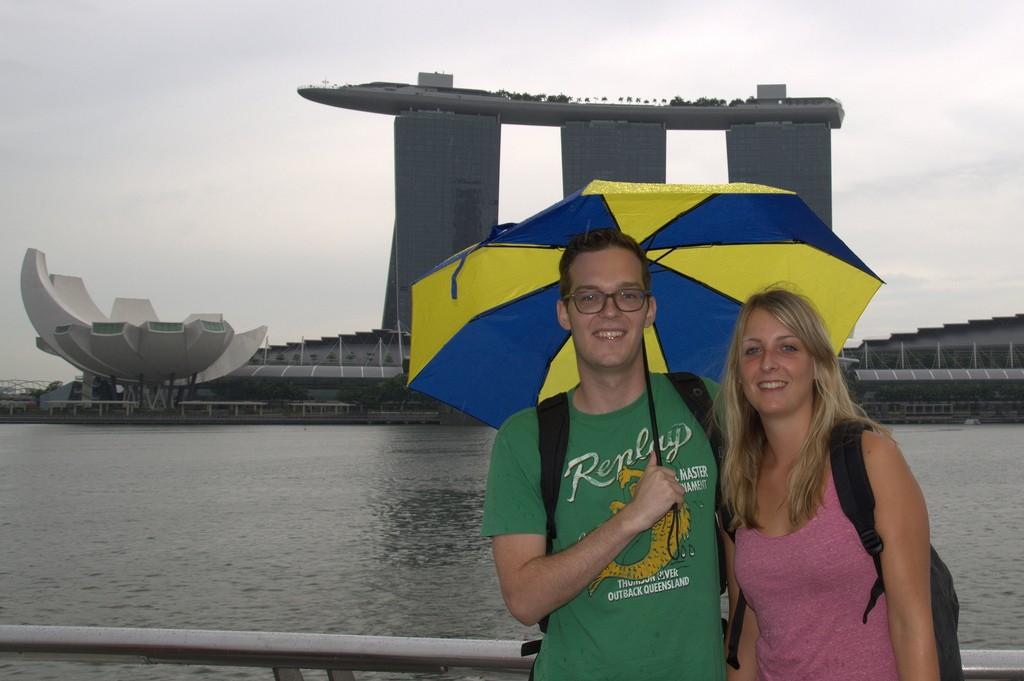 Voor de Marina Bay Sands