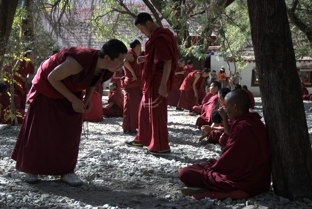 Werd ruim 15 minuten beschreeuwd door deze monnik