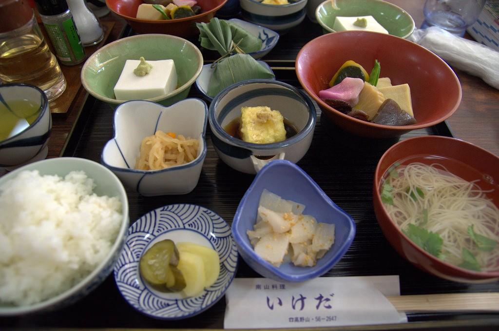 Eating Shojin-Ryori Koya San