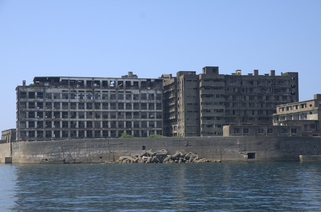 Gunkanjima buildings in Hashima