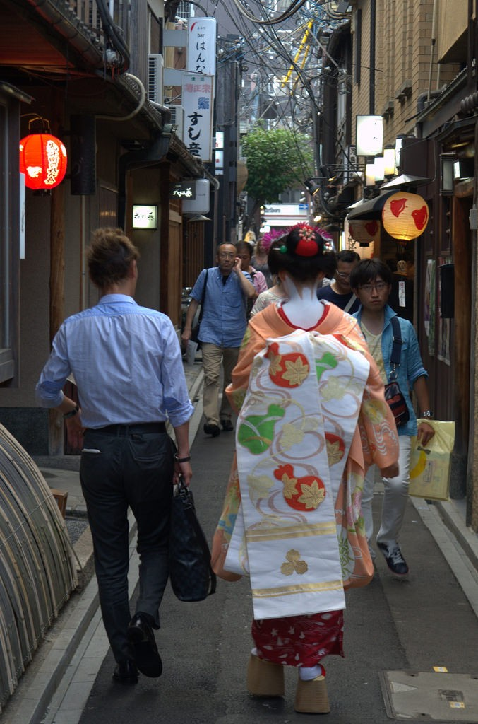 Spotting a geisha or meiko in Kyoto?