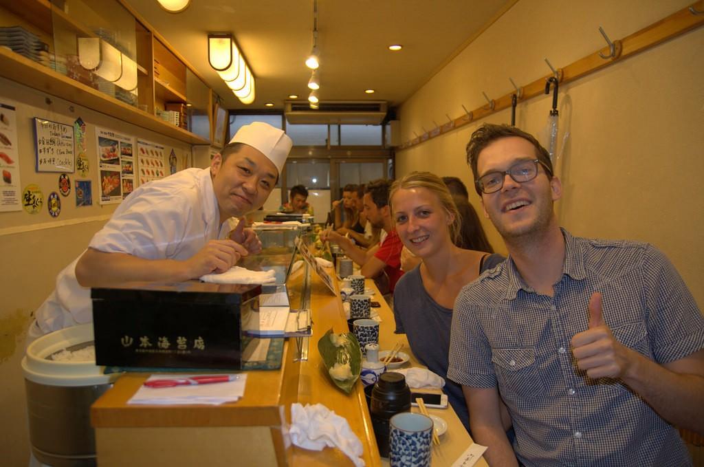 Reizen over de Wereld bij Sushi Yamazaki
