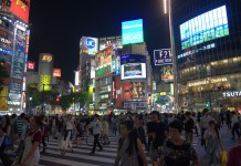 Shibuya sqaure by night