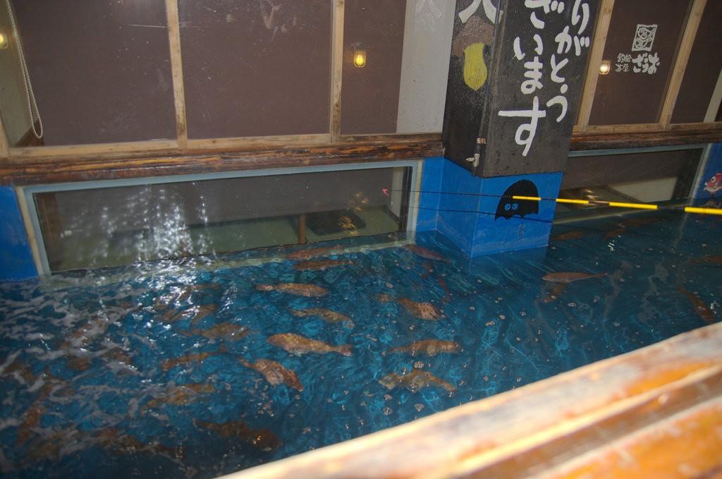 Zelf je vis vangen in Zauo restaurant Fukuoka