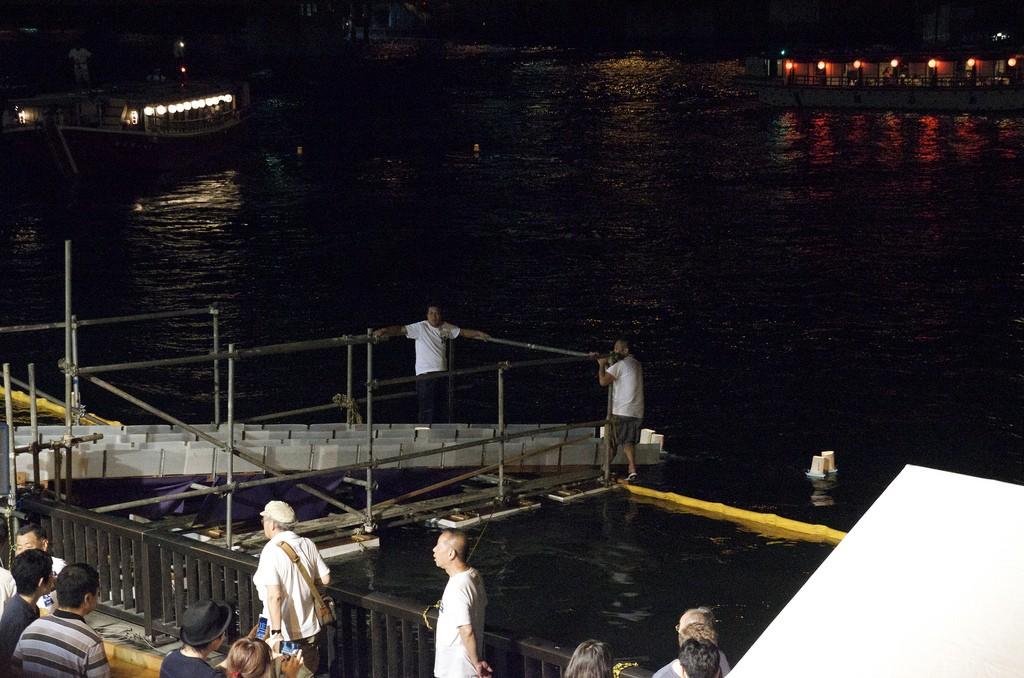 Floating Lantern Festival Tokyo te water