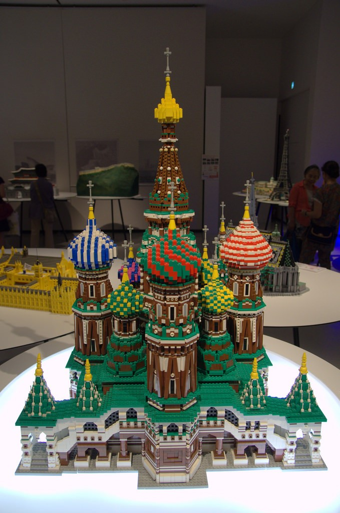 LEGO St. Basil's Cathedral in Moscow, Russia