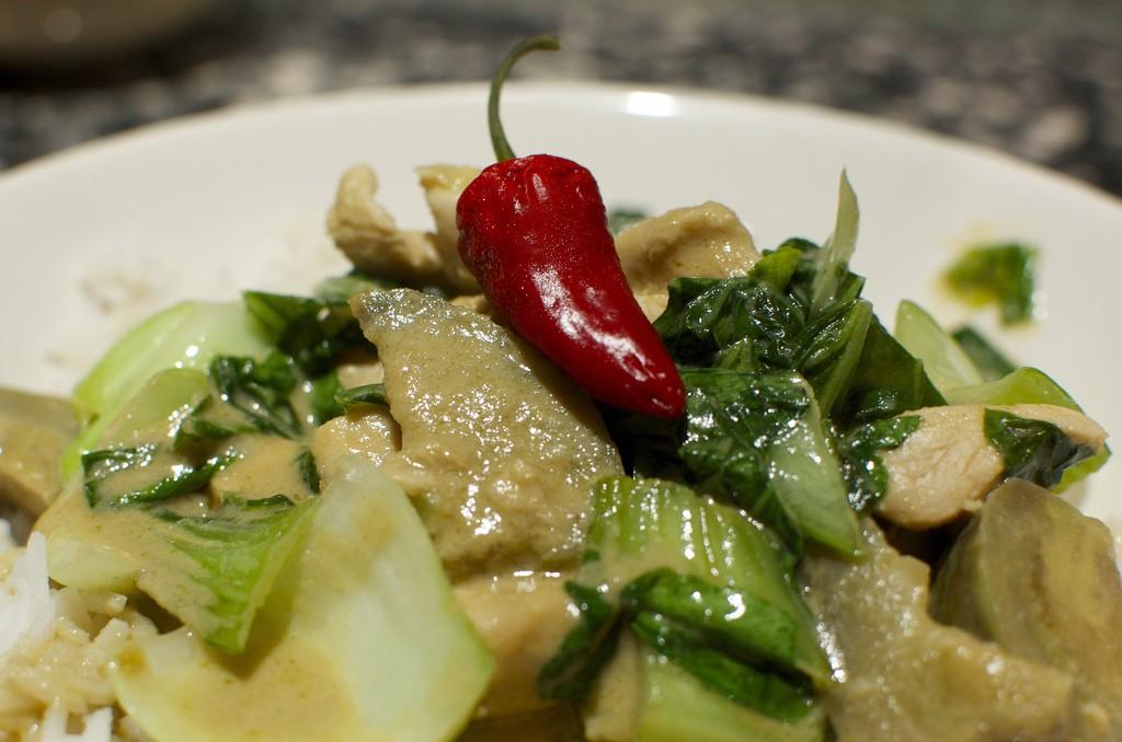 Kip in Thaise groene curry