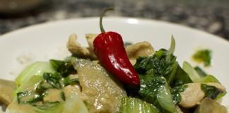 Kip met Thaise groene curry