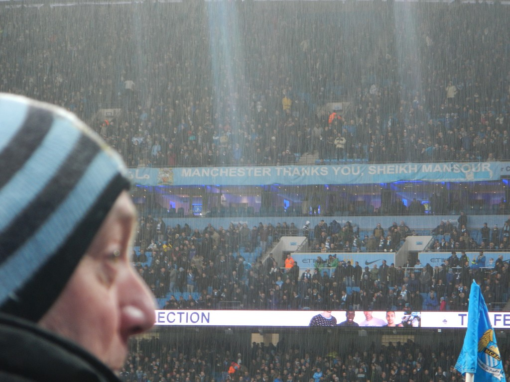 Regenachtige dag Manchester