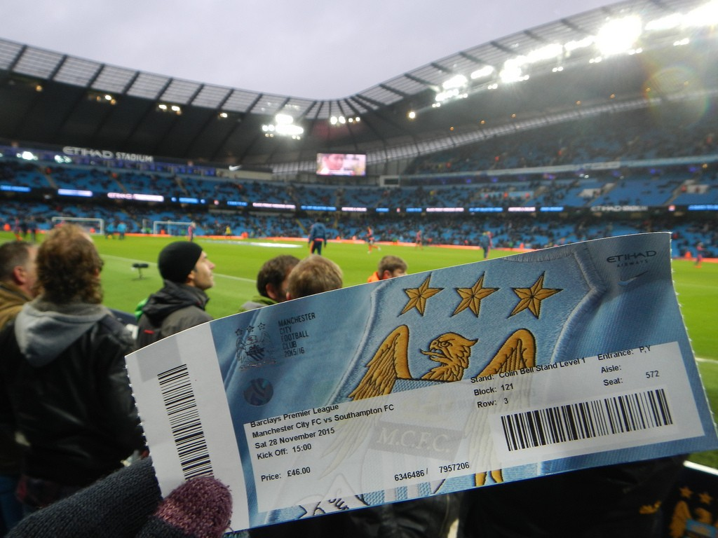 Voetbalkaartje Manchester City