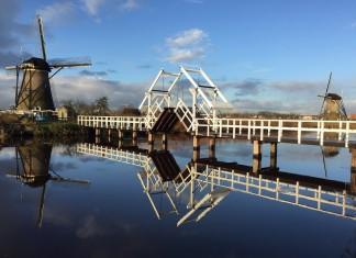 Waterreflectie Kinderdijk