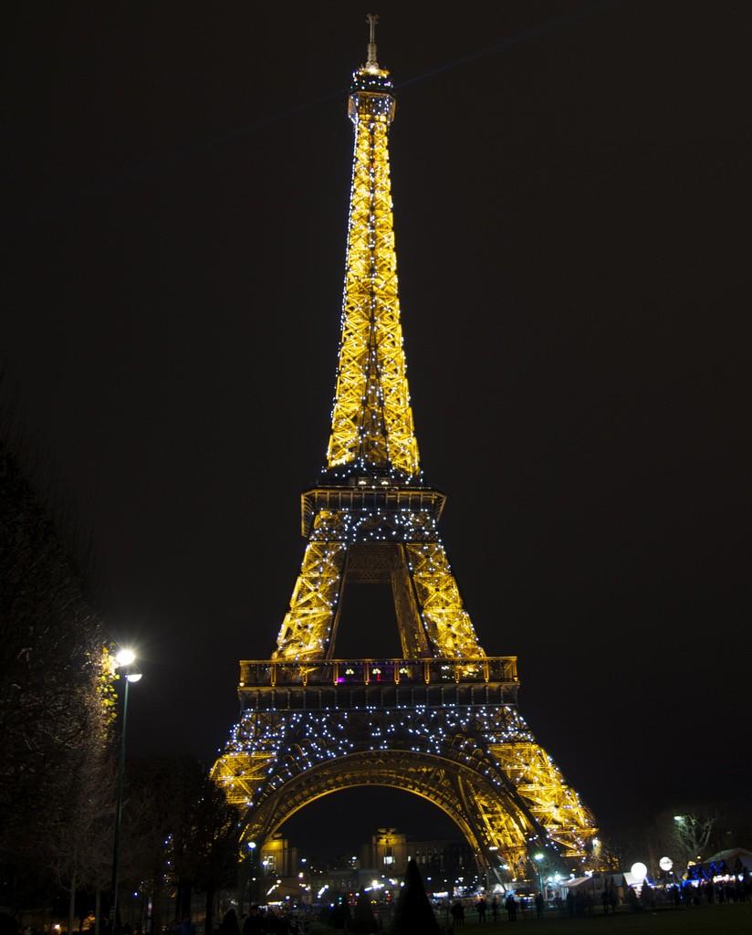 Eiffeltoren 's avonds
