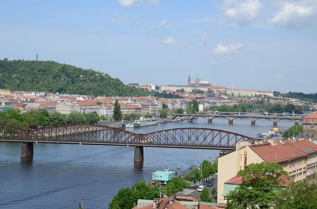 Uitzicht Praag vanaf Vysehrad