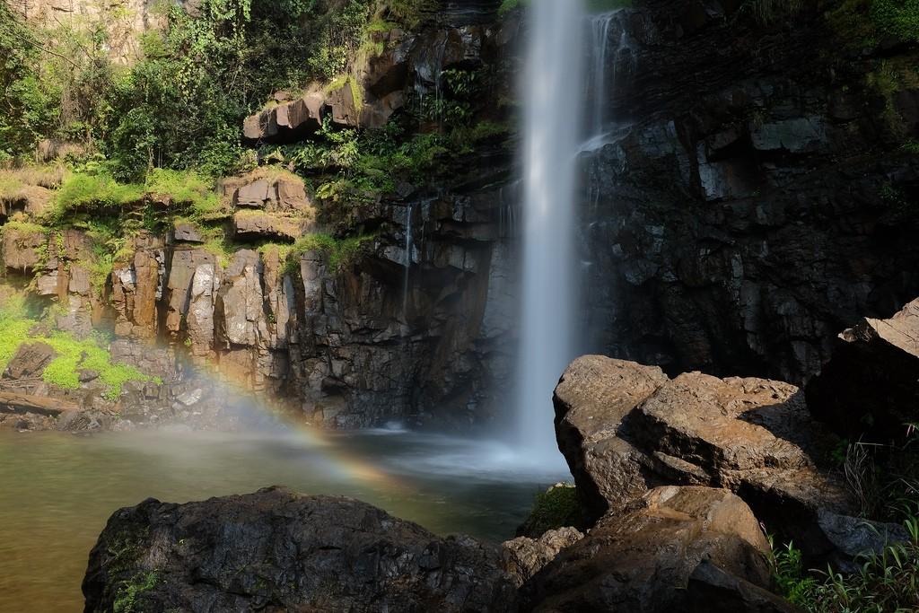 Lone Creek waterval regenboog