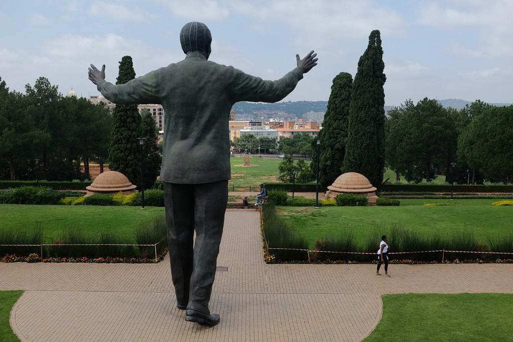 Mandela standbeeld Pretoria Zuid-Afrika