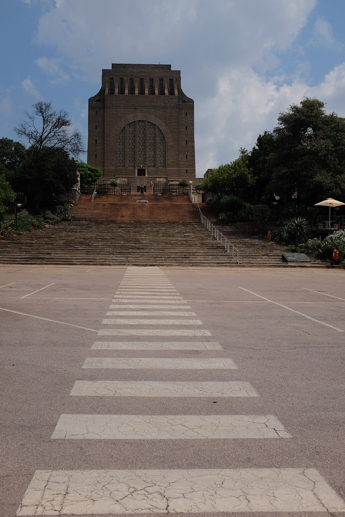 Zebra leading towards Voortrekkersmonument