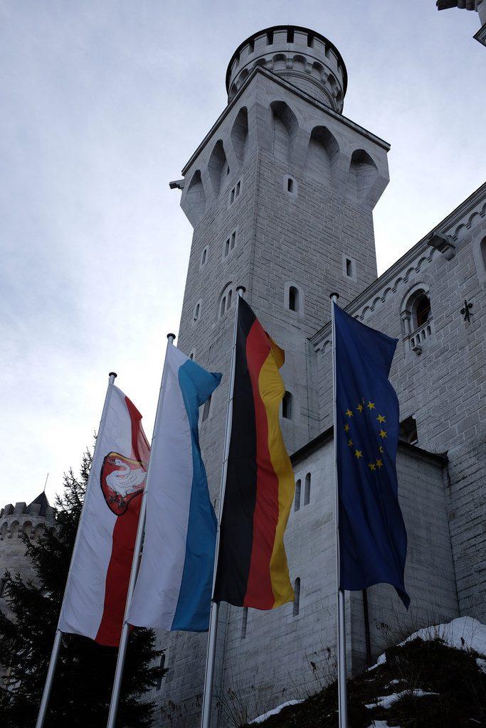Vlaggen voor Neuschwanstein