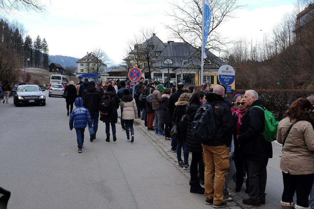 Wachtrij Neuschwanstein tickets