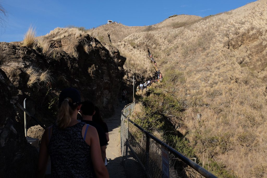 De top in zicht