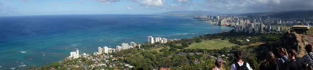 Diamond Head Crater uitzicht op Waikiki Beach