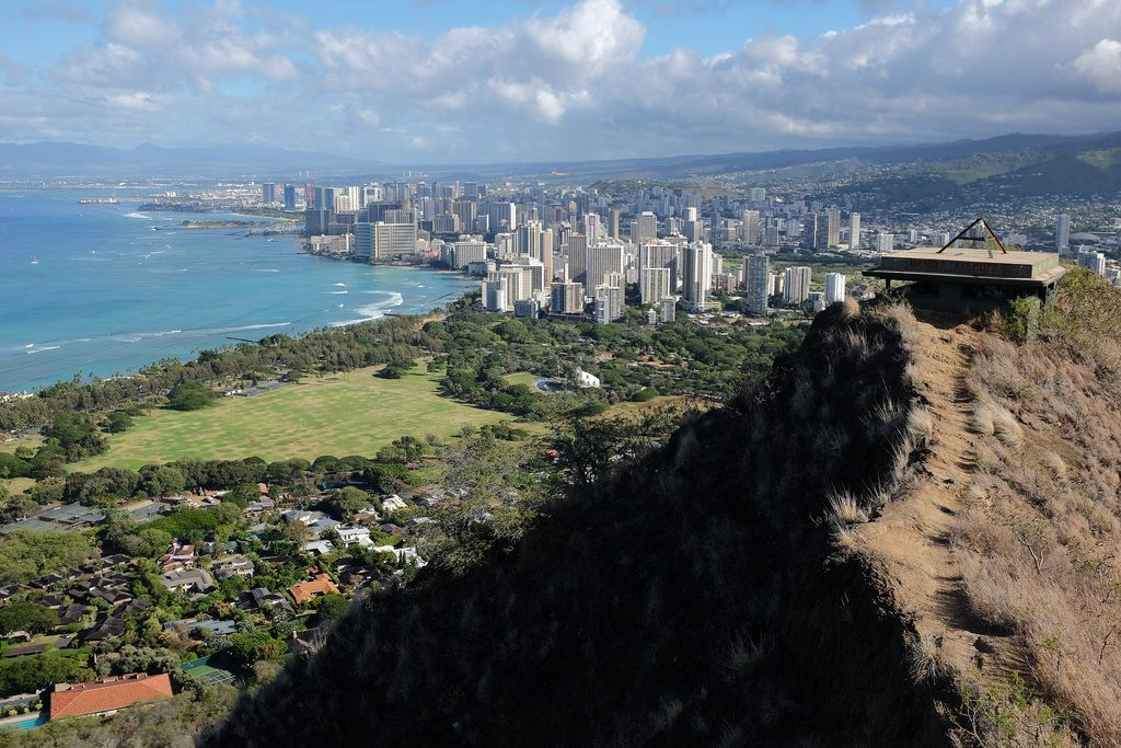 Diamond Head Crater wandeling Honolulu Hawaii