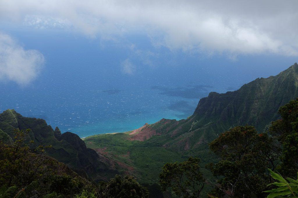 Kalalau uitzichtspunt Kauai Hawaii