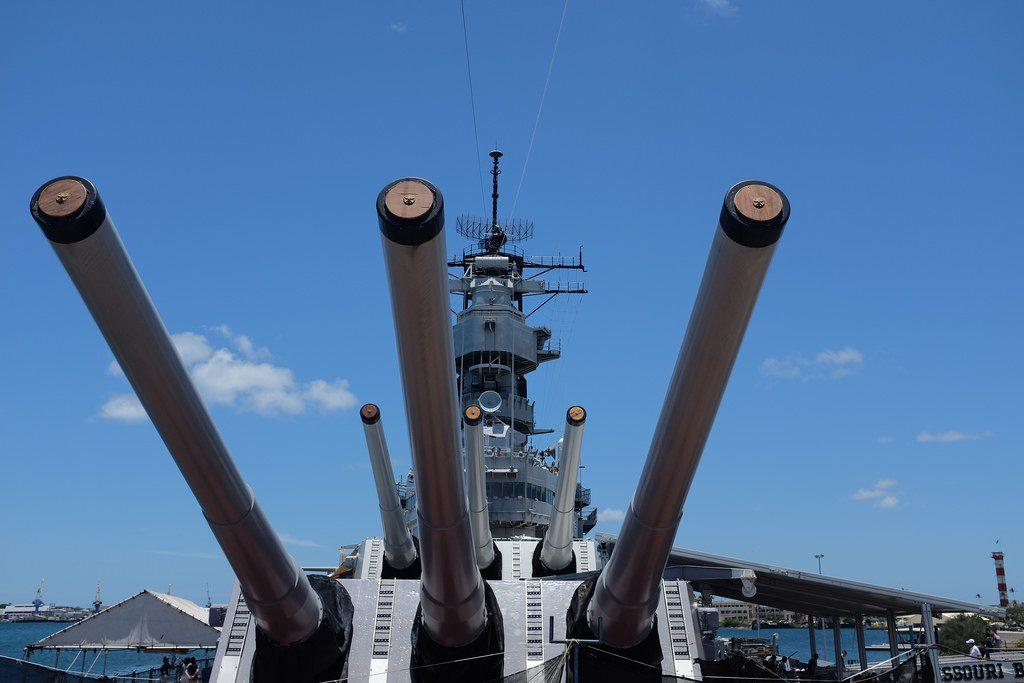 Kanonnen USS Missouri Pearl Harbor