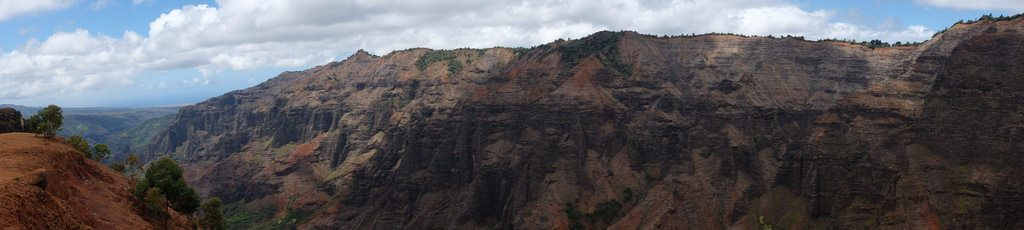 Panorama Waimea Canyon Trail Hawaii