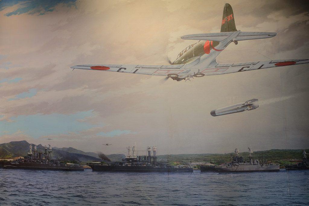Tekening aanval Pearl Harbor