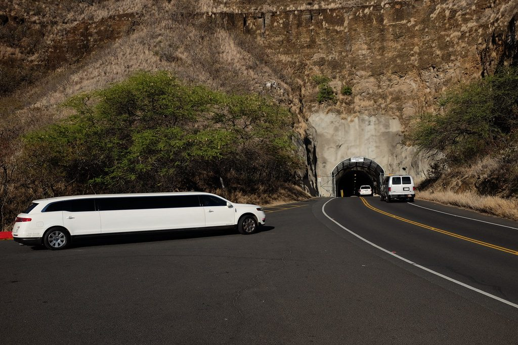 Tunnel naar Diamond Head Crater