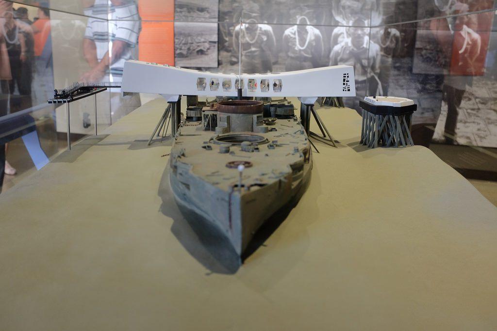 USS Arizona maquette Pearl Harbor