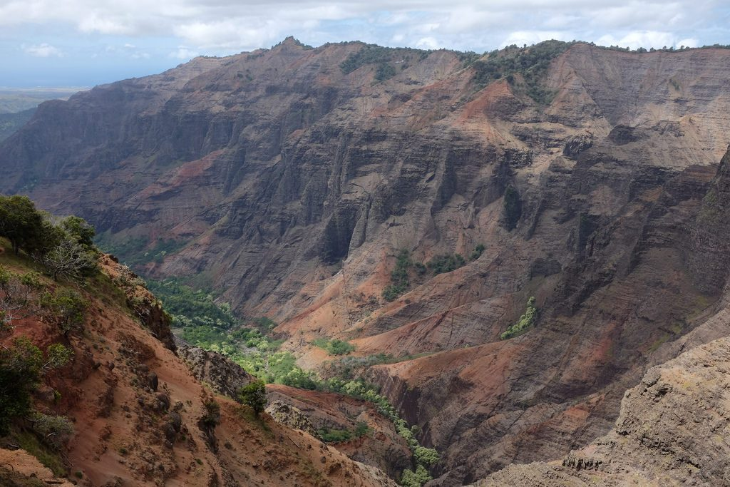Uitzichtpunt Cliff Trail Waimea Canyon Hawaii