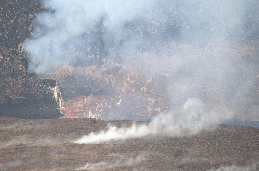 Hawaii Vulkanen Halemaumau Krater Lavaspetters