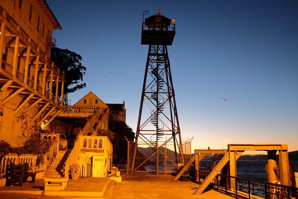 Alcatraz by night