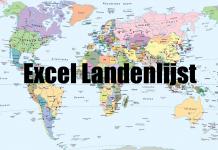 Excel landenlijst