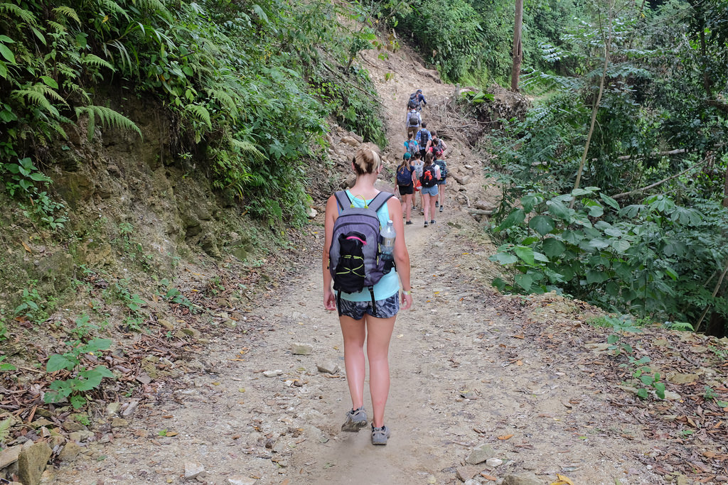 Lopen tijdens de Ciudad Perdida Trekking