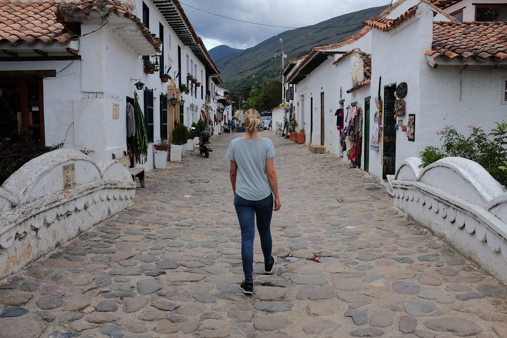 Suus door de straten van Villa de Leyva
