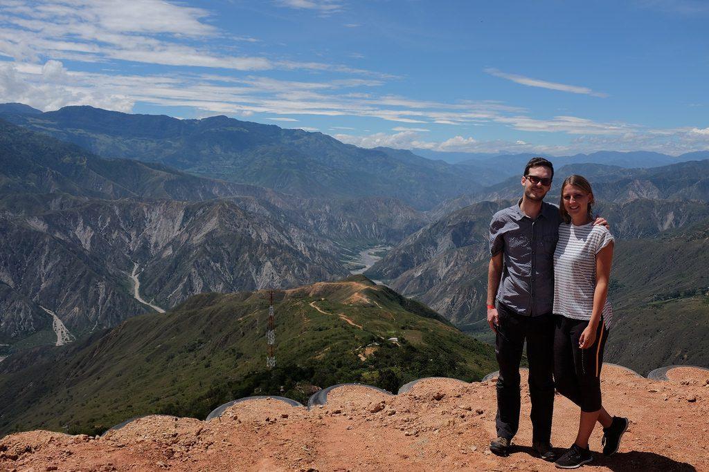 Voor de Chicamocha Canyon